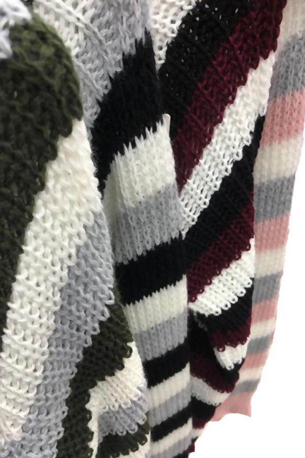 Multi Colour Crop Jumper
