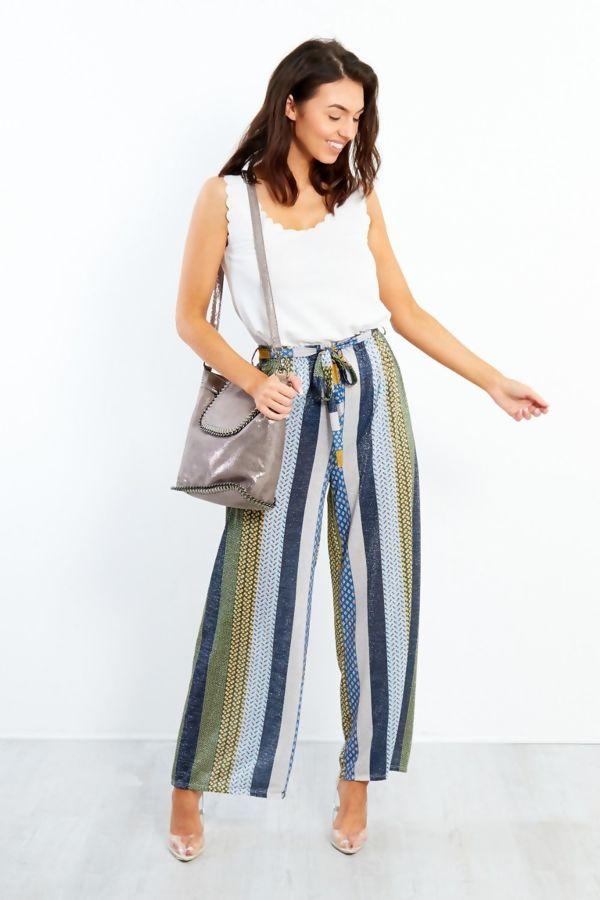 Multi Wide Leg Trouser