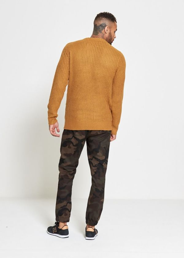 Mustard Chain Fine Knitted Jumper