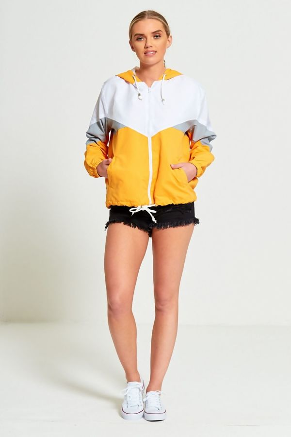 Mustard Two Tone Cagoule Jacket