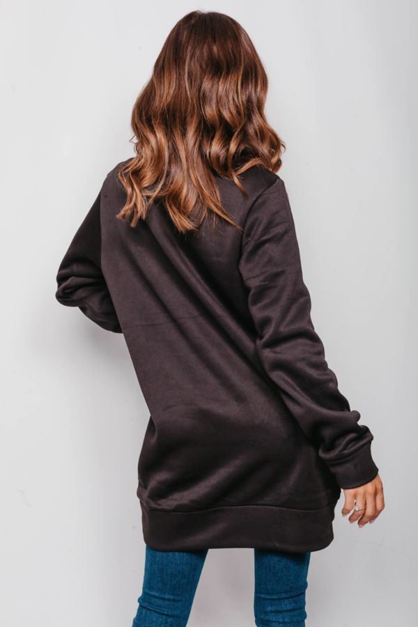 Black Plus Size Merry Christmas Ya Filthy Animal Sweat Dress Pre Order