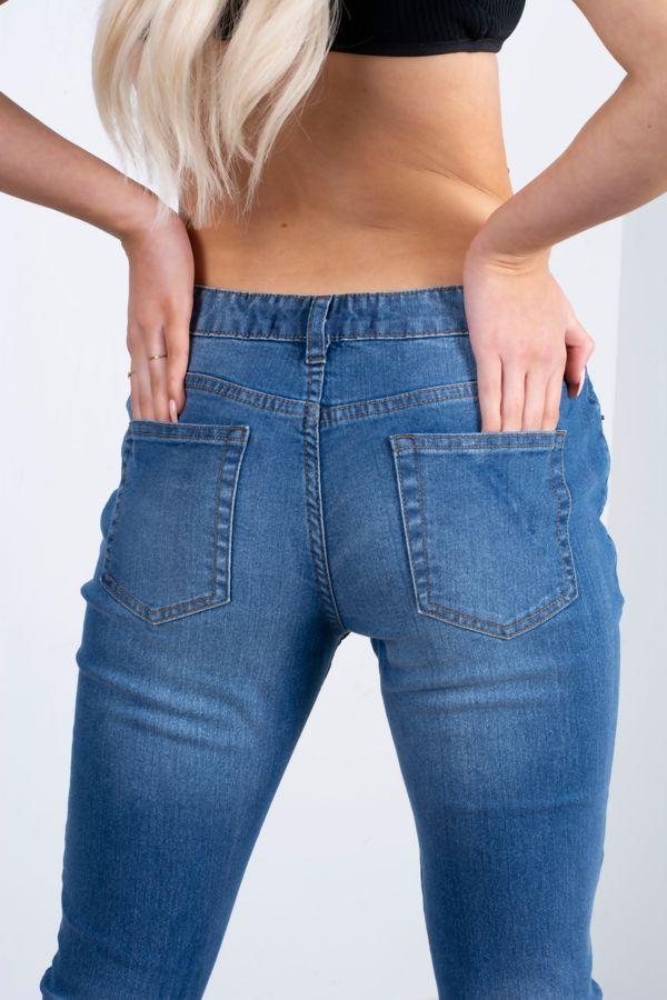 Mid Rise 5 Pocket Stretch Skinny Jeans