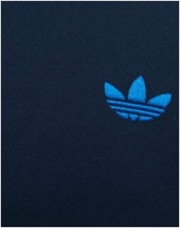 Navy Adidas Trefoil Pique Polo T-Shirt