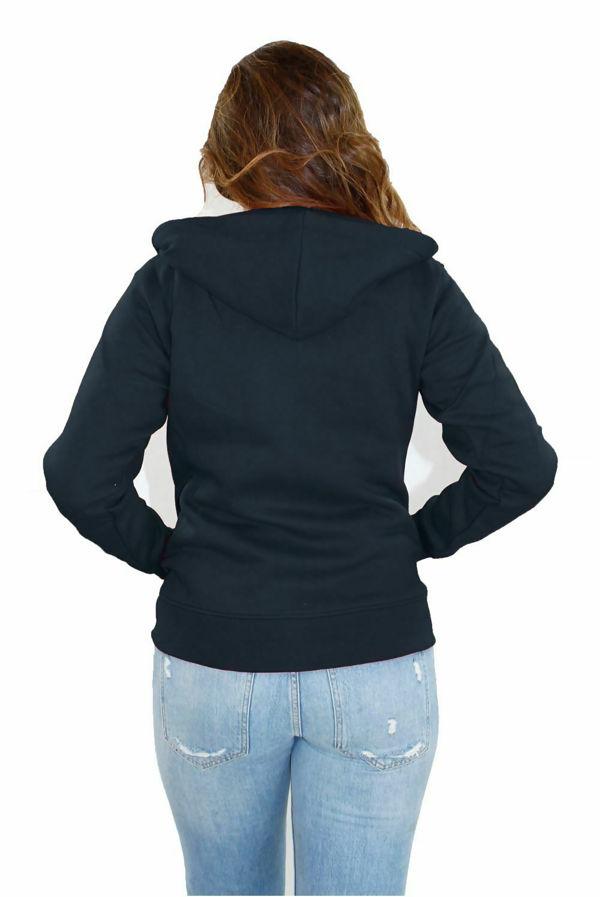 Navy Basic Hooded Jacket