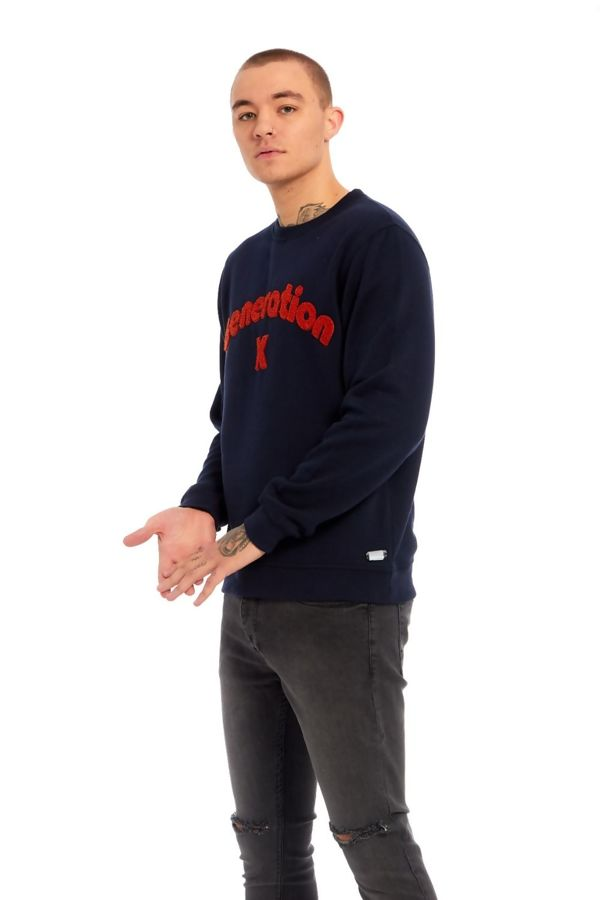 Navy Blue X Generation Pullover Jumper