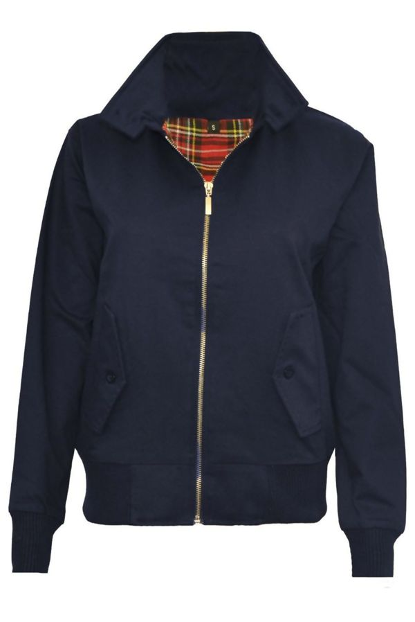 Navy Classic Harrington Biker Jacket