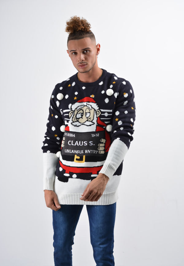 Navy Claus Christmas Jumper