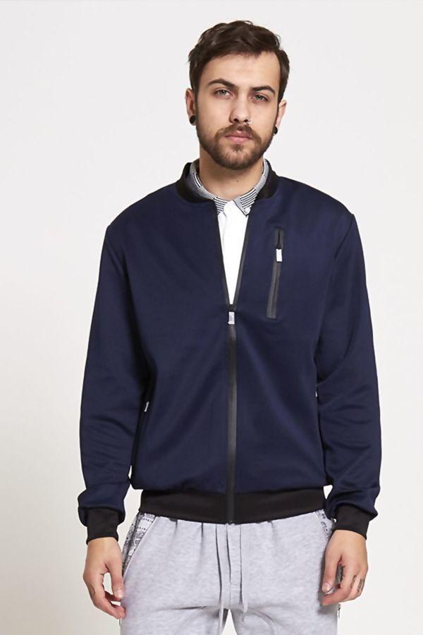 Navy Contrasting Bold Jacket