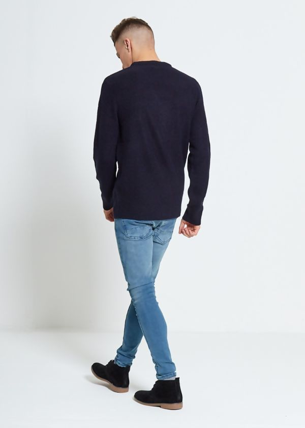 Navy Fine Knit Jumper