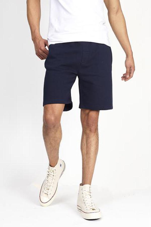 Navy Jersey Sweat Shorts