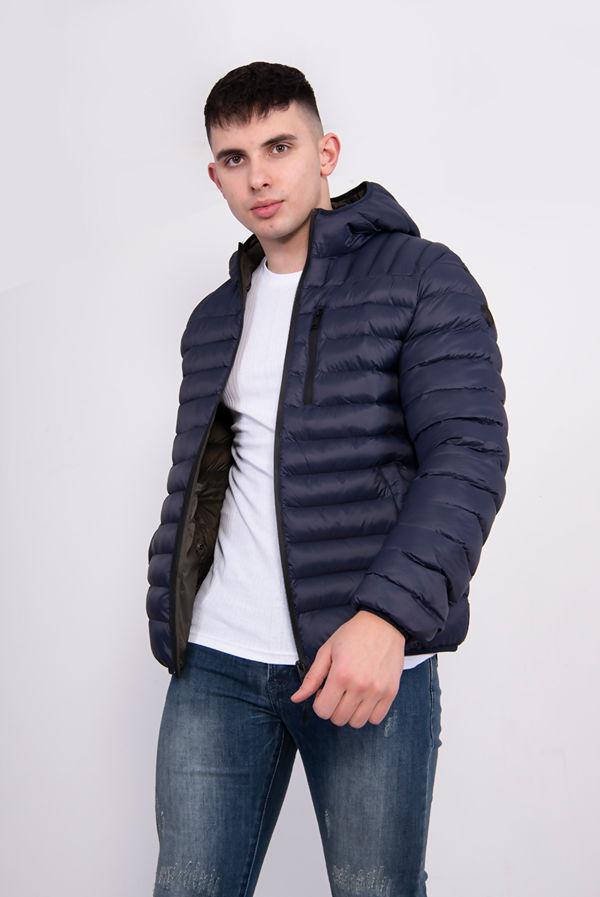 Navy Lightweight Fetlar Puffer Jacket