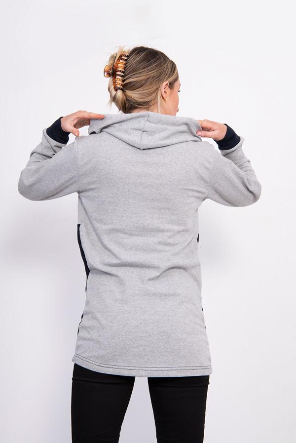 Navy New York Chic Hooded Sweatshirt