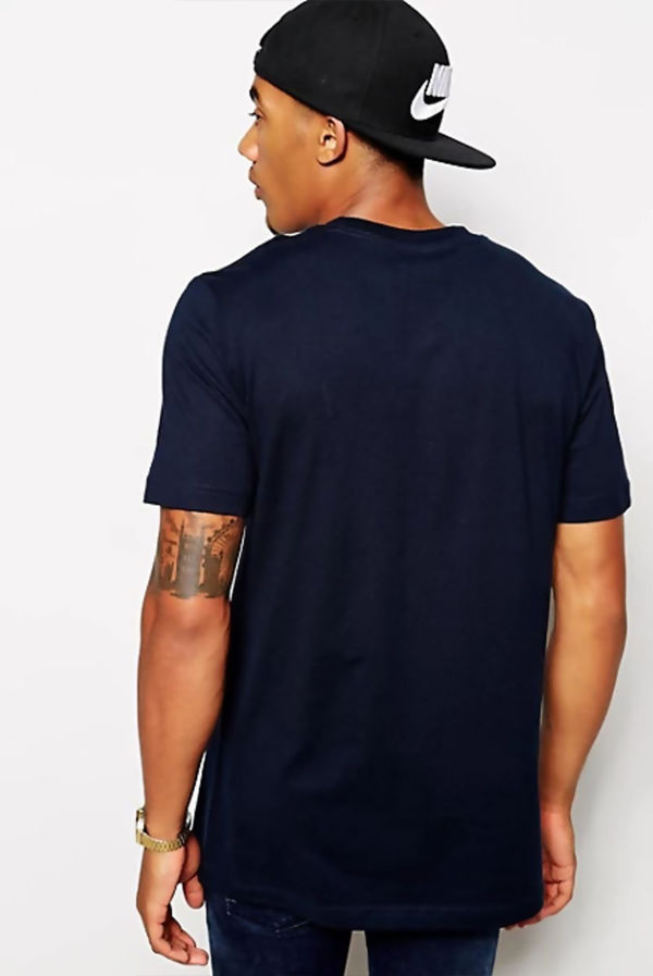 Navy Nike T-Shirt With Embroidered Swoosh