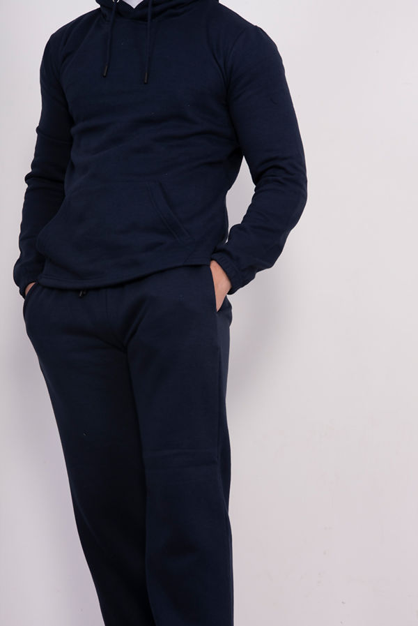 Navy Pullover Hooded Tracksuit