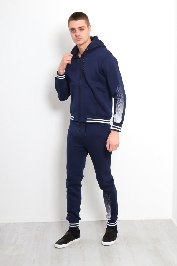 Navy Spatted Skinny Fit Tracksuit