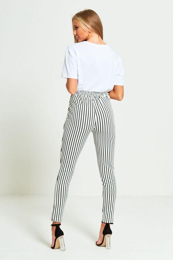 Navy Vertical Stripes Trouser