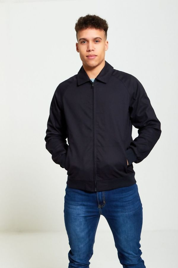 Navy Zip Through Light Weight Jacket