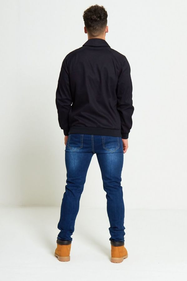 Navy Zip Through Light Weight Jacket