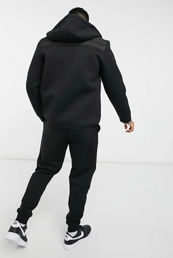 Black Reflective Zip Bubble Hybrid Jacket