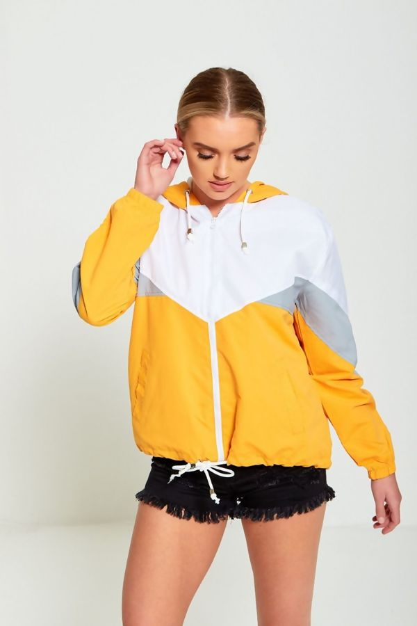 Neon Flora Pink Two Tone Cagoule Jacket