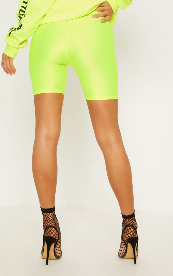 Neon Lime Cycling Shorts