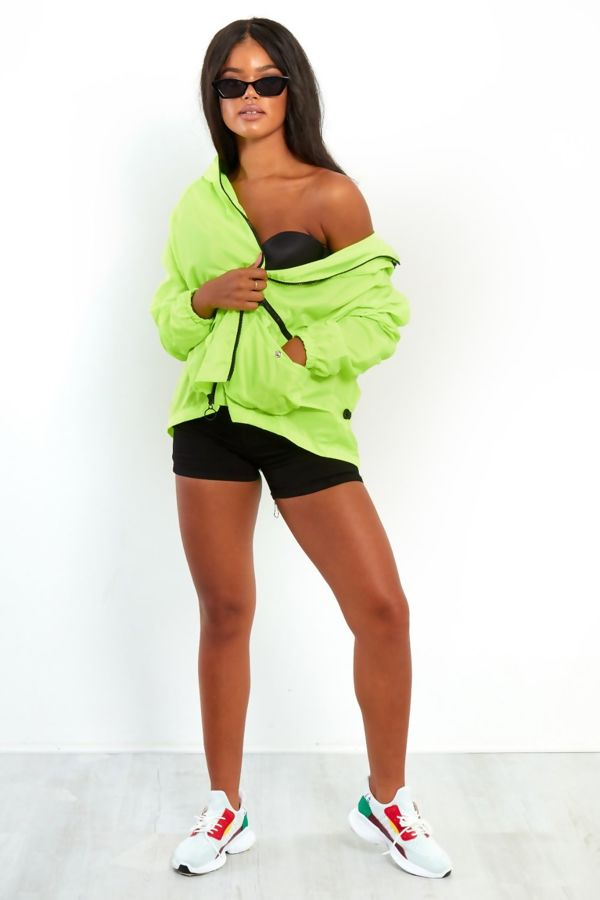 Neon Orange Light Weight Hooded Jacket