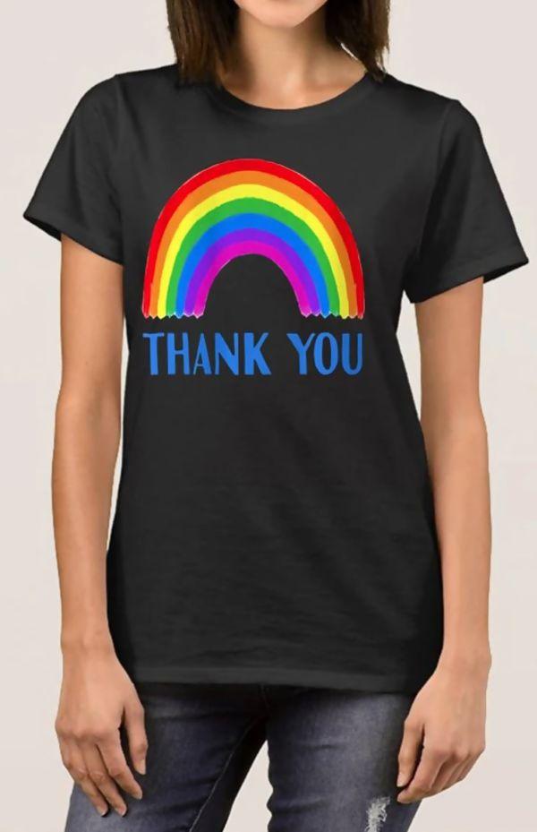 Black NHS Thank You Tee