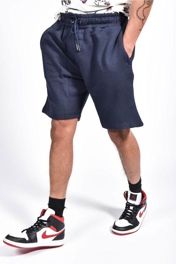 Navy Basic Jogger Shorts