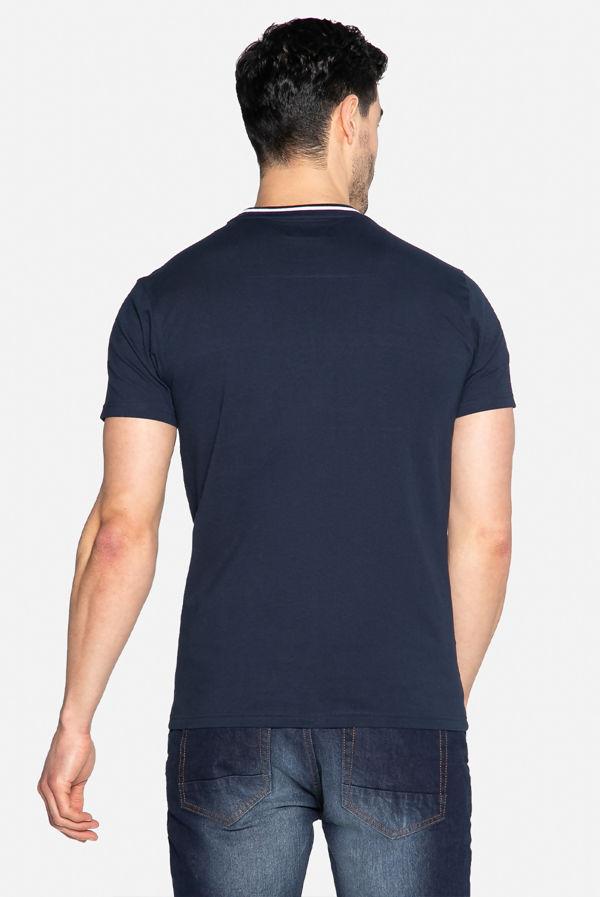 Navy Callahan Camo Stripe T-Shirt