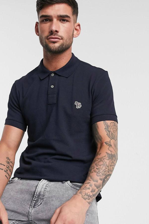 Navy Paul Smith Slim Fit Zebra Logo Polo