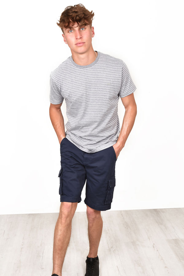 Navy Timber Striped Tee
