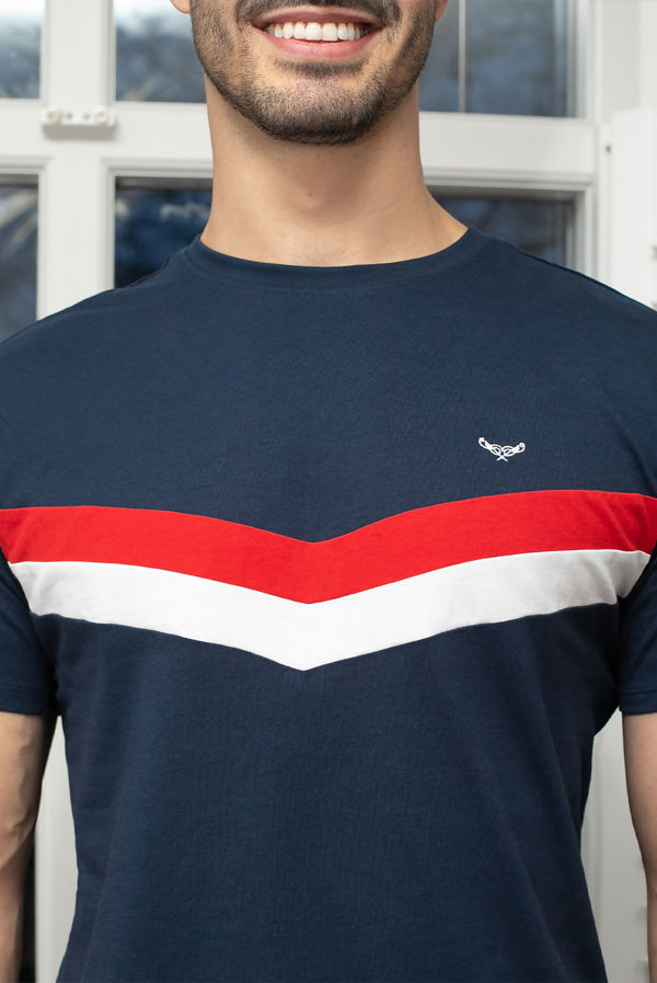 Navy With Grey Wilson Cotton Pyjama Set