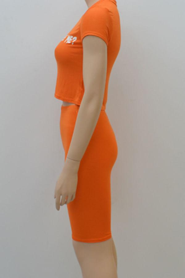 Orange Kiki Do You Love Me Crop Top