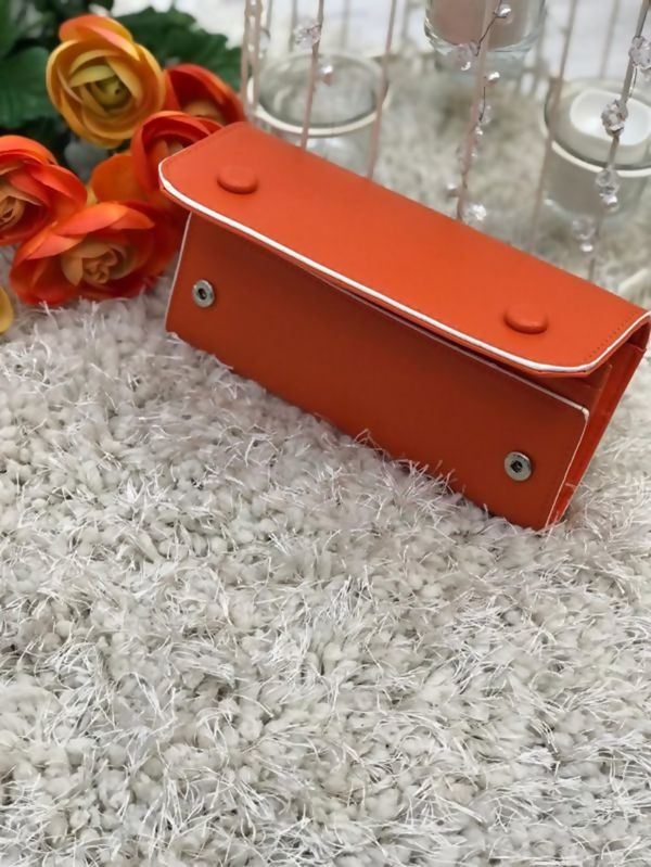 Orange Studded Purse