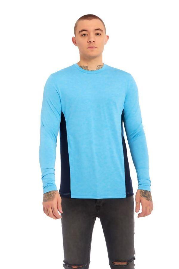 Panel Contrast Aqua T-Shirt