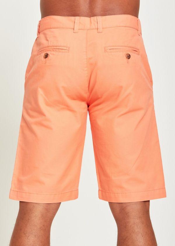 Peach Basic Kneecap Shorts