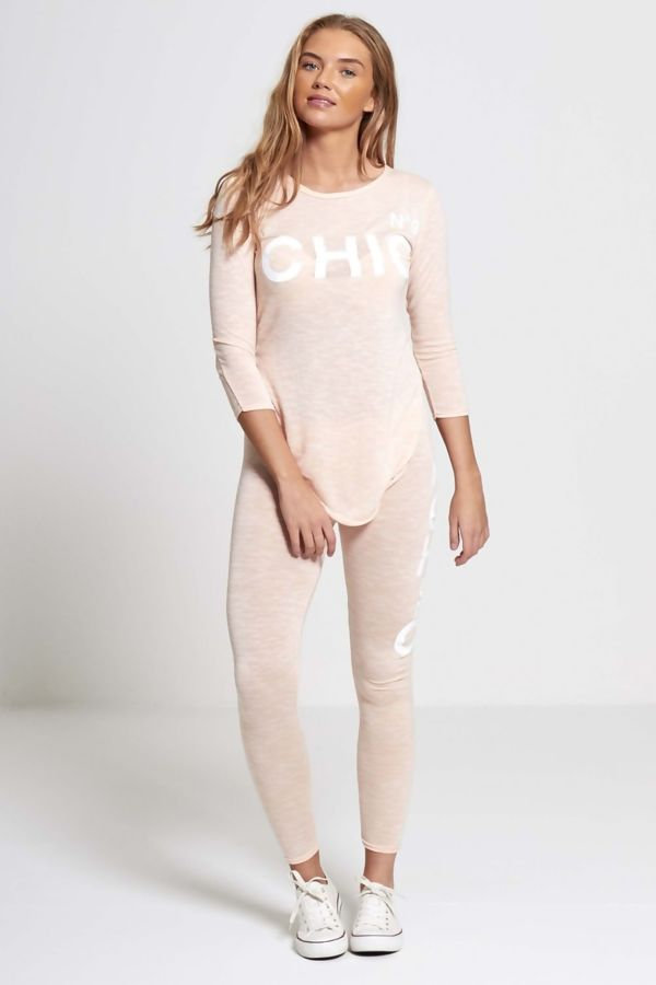 Peach NO9 Chic Tracksuit
