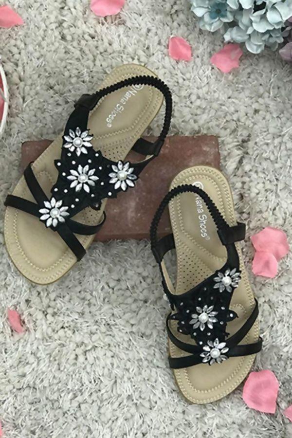 Pearl Diamante Bling Sandals
