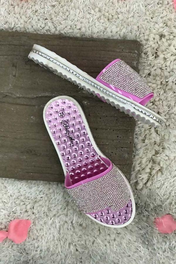 Pink Bubble Soul Diamante Sliders