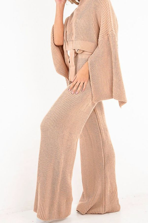 Pink Chunky Knit Loungewear Set