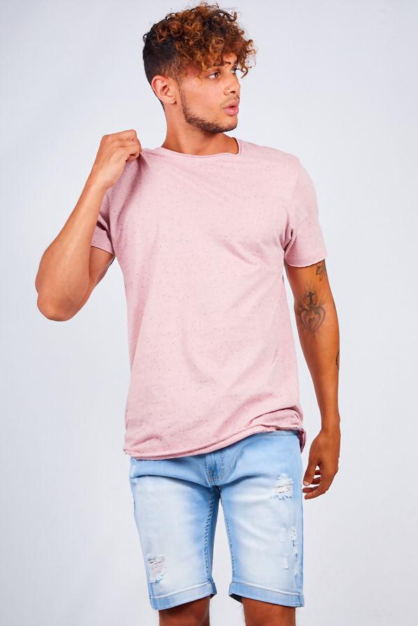 Pink Contrast Nepp Crew Neck T-shirt