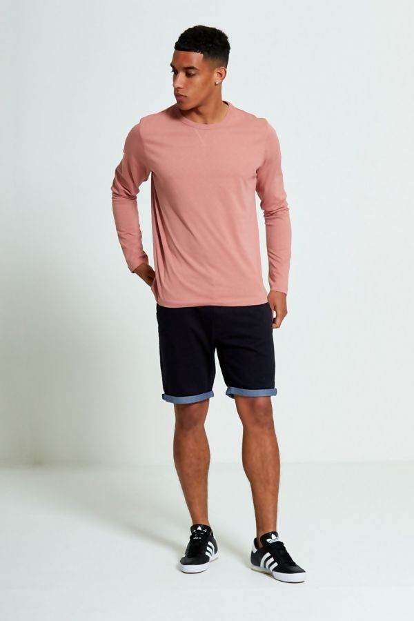Pink Crew Neck Long Sleeve T-Shirt