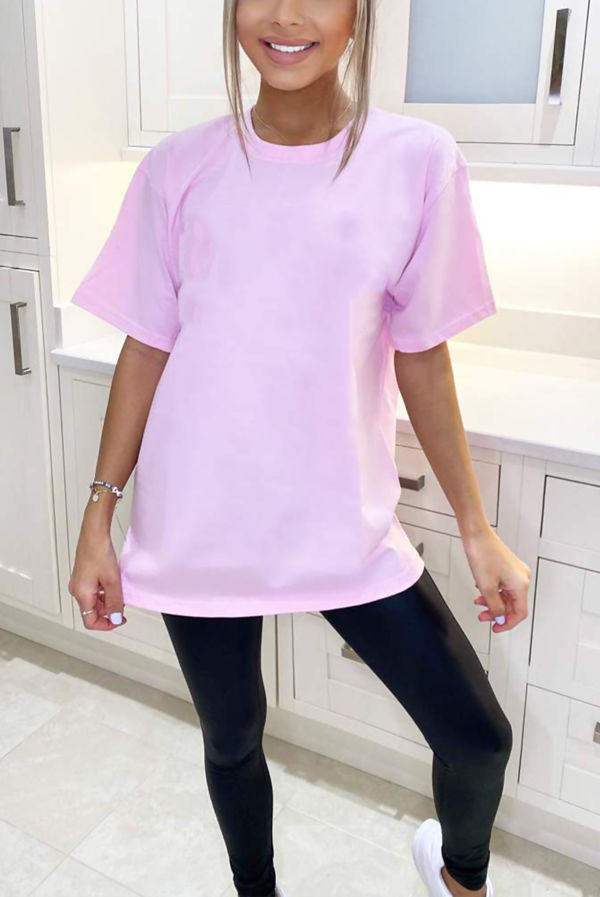 Pink Los Angeles Back Oversized Tee