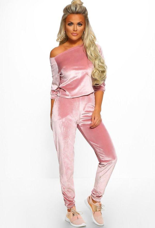 Pink Sassy Velvet Lounge Set