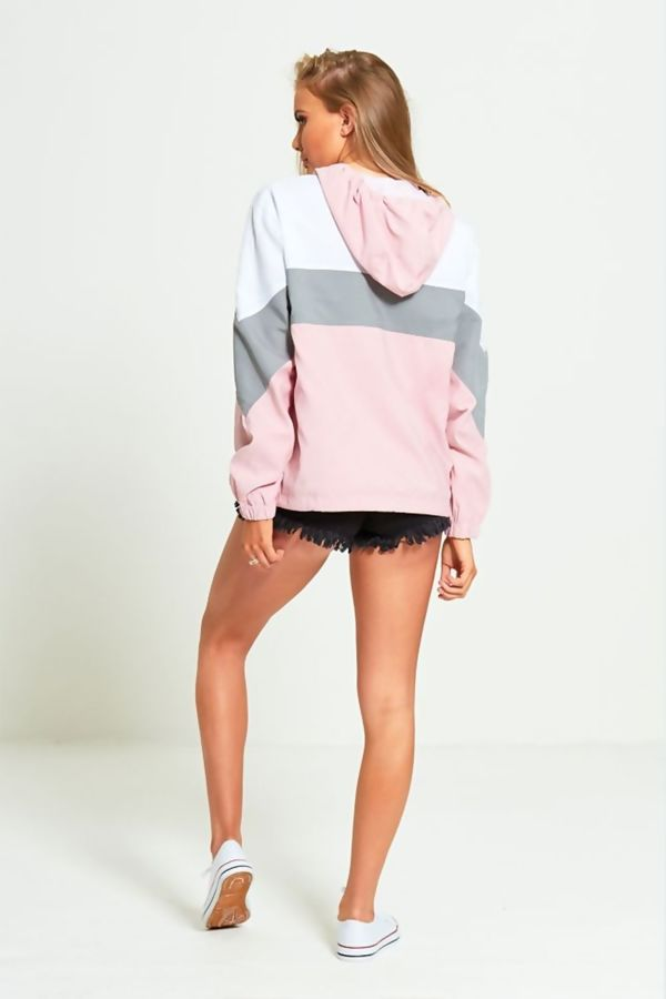 Pink Two Tone Cagoule Jacket