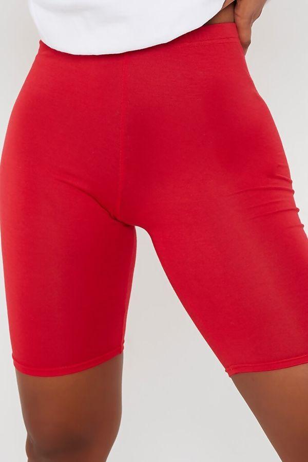 Pink Viscose Slinky Plain Cycling Shorts