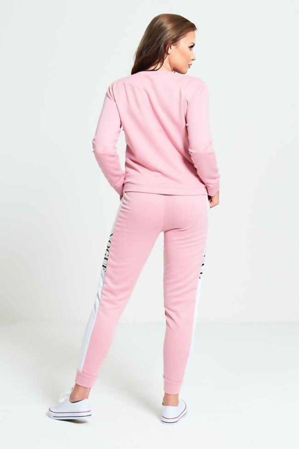 Dusty Pink VOGUE Print Tracksuit