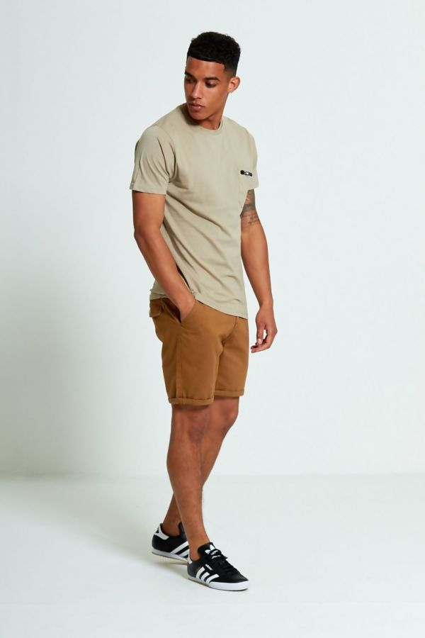 Pink Zip Detail Chest Pocket T-Shirt