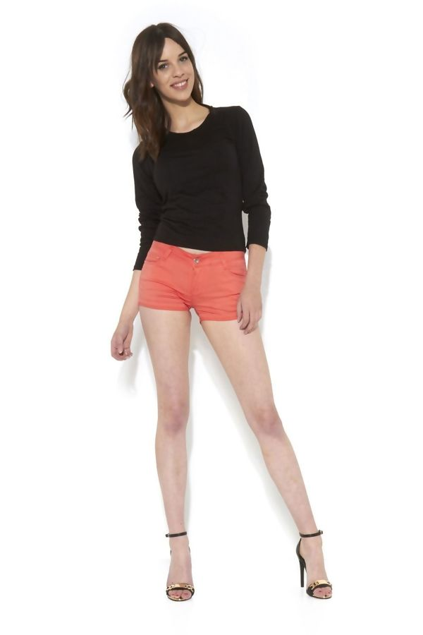 Plain Coral Shorts