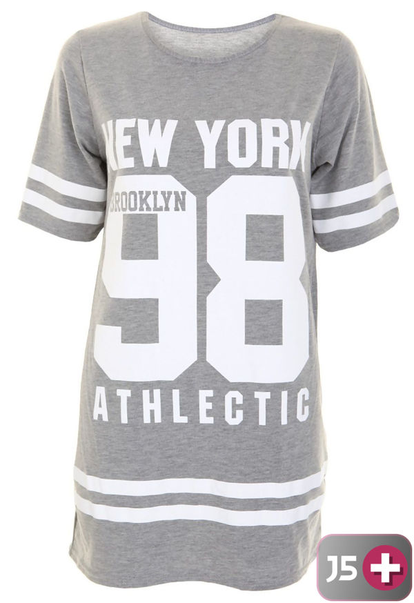 Plus Size Charcoal New York 98 Oversize T-Shirt